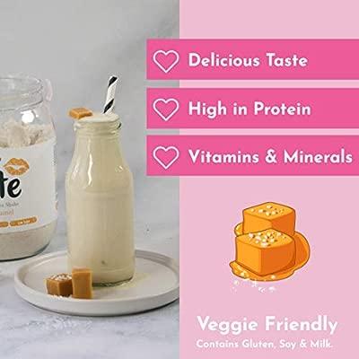 Cute Nutrition Batido Sabor Caramelo Salado para el Control de la Pérdida de Peso en Polvo Bebida Dietética para Mujer Bote de 500 g