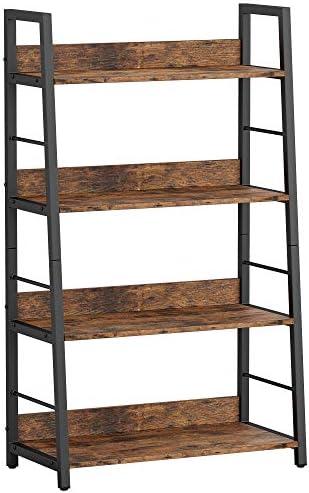 IRONCK Industrial Bookshelves and Bookcases 4 Tier Ladder Shelf Storage Shelves Rack Shelf Unit