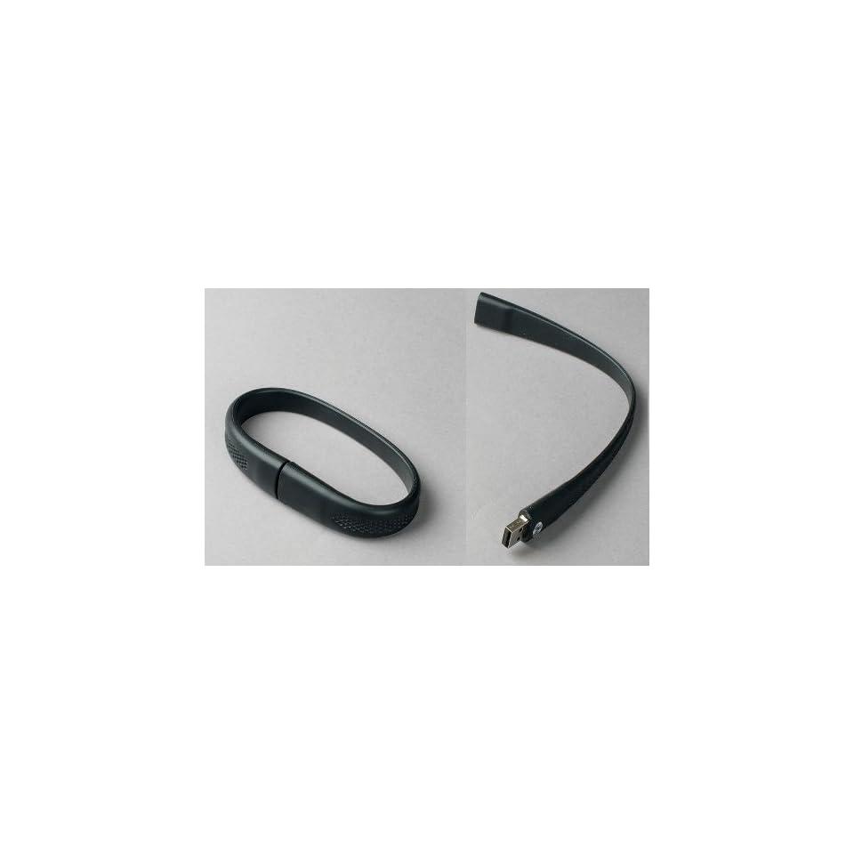 Black Wristband USB Flash Memory Drive 16GB