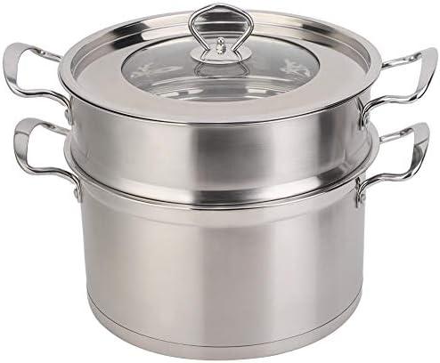Brocan ツール調理26CMステンレス鋼二重層食品汽船ポットStockpot調理器具世帯