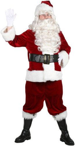 Halco Velveteen Santa Suit- Size 42-48 jacket up to 52 -