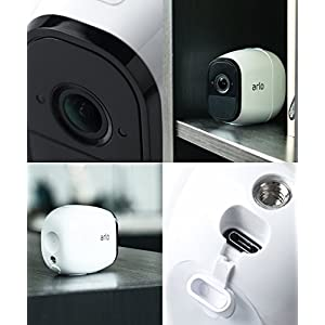 Arlo Pro – Add-on Camera | Rechargeable, Night vision, Indoor/Outdoor, HD Video, 2-Way Audio, Wall Mount | Cloud Storage Included | Works with Arlo Pro Base Station (VMC4030)
