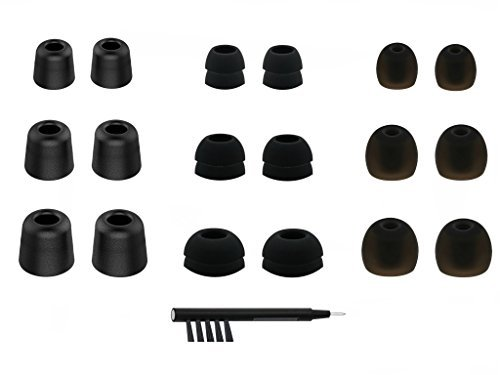 S//M//L Memory Foam /& Silicone Adapter Ear tips for Jaybird X4 12pcs BMF-B