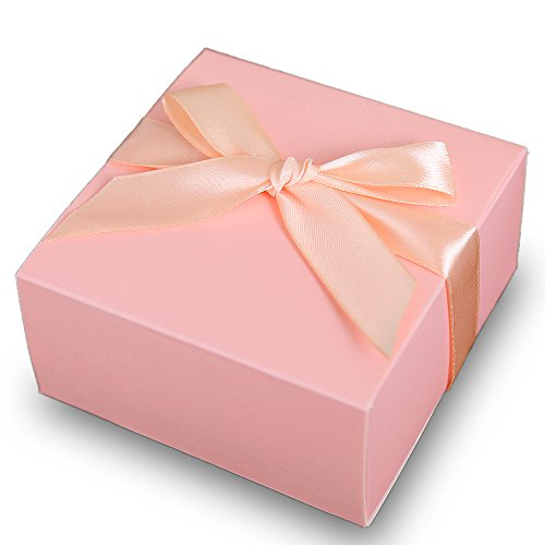 Doris Home 50 pcs 1.89x4x4 inch Birthday Wedding Party Favor, Wedding Gift Bags Chocolate Candy and Gift Boxes Bridal Shower Party Paper Gift Box (Pink 2)