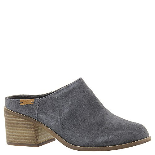 TOMS Women's Leila Mule Forged Iron Grey Suede 8 B US - Pine Iron