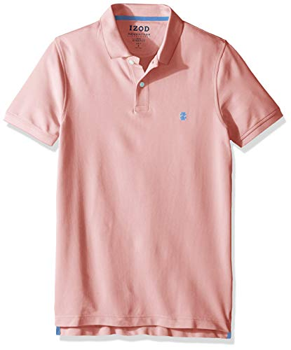 IZOD Men's Slim Fit Advantage Performance Short Sleeve Solid Polo, Candy Pink, XX-Large Slim