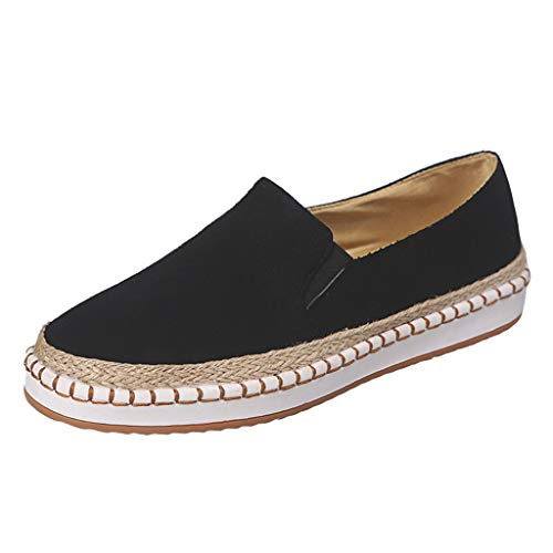 Toe Bowknot Low Cut - Kauneus Womens Women's Fashion Sneakers Platform Low Cut Slip-on Faux Suede Round Toe Flat Shoes Black