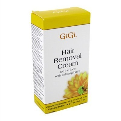 Gigi Hair Removal Cream For Face With Calming Balm (3 Pack) (Best Hair Removal Cream For Thick Coarse Hair)