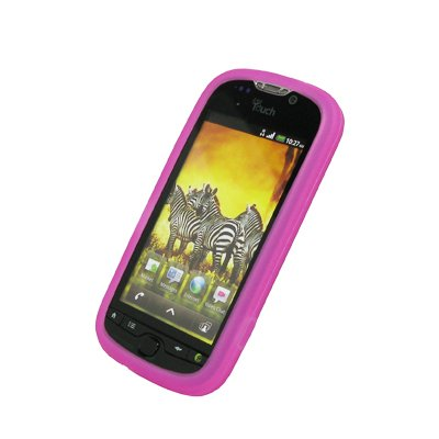 EMPIRE Hot Pink Rosa Silicone Skin Cover Couverture Case Étui Coque for HTC myTouch 2010
