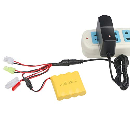 Airsoft Smart Battery Charger for 3v-12v NiMH Nicd Pack, 2A Max Charge Current,w/Tamiya Connector and 5 More Plugs