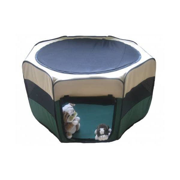 GoPetClub Exercise Pet Play Pen, Green Click on image for further info.