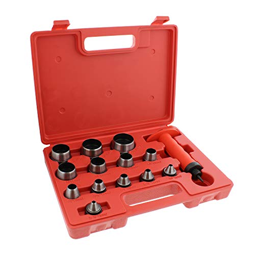 ABN Hollow Punch Kit Leather Punches Tools Hole Punch Set Gasket Punch Set Gasket Cutter 3/16 to 1-3/8in (5-35mm)