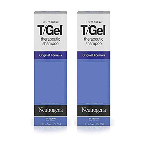 T/Gel Therapeutic Shampoo Original Formula, Anti-Dandruff Treatment for Long-Lasting Relief of Itching and Flaking Scalp as a Result of Psoriasis and Seborrheic Dermatitis, 16 fl. Oz (2 Pack) by Neutrogena