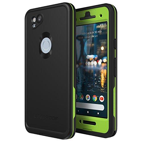 Lifeproof 77-56090 FRĒ Series Waterproof Case for Google Pixel 2 - Retail Packaging - Night LITE (Black/Lime)