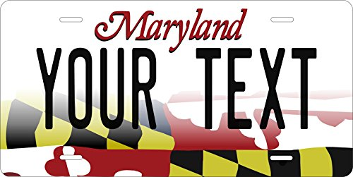 50 State Personalized Custom Novelty Tag Vehicle Auto Car Bike Bicycle Motorcycle Moped Key Chain License Plate (Maryland 2016) ()