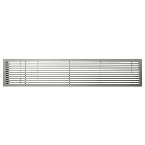 Architectural Grille 200064831 AG20 Series 6'' x 48'' Solid Aluminum Fixed Bar Supply/Return Air Vent Grille, Brushed Satin with Left Door by Architectural Grille