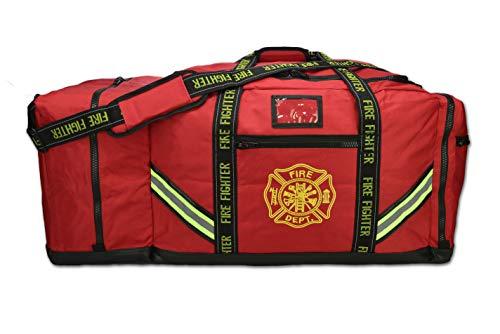Lightning X Fireman Premium 3XL Firefighter Rescue Step-In Turnout Fire Gear Bag w/Shoulder Strap & Helmet Pocket - Gear Firemans