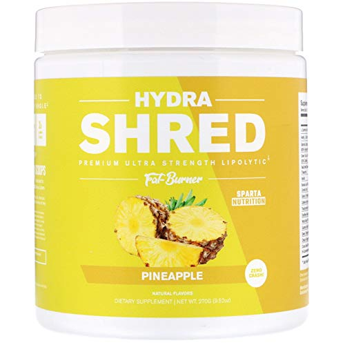 Hydra Shred: Pre-Workout Thermogenic Fat Burner Powder | Best Metabolism Booster, Midsection Fat Burner, Weight Loss Energy Drink to Suppress Appetite, Mood Support with TeaCrine, Pineapple, 60 SRV