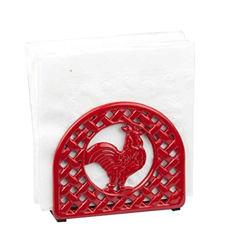 home-basics-cast-iron-rooster-napkin-holder-red
