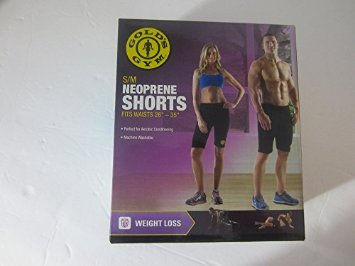 Gold's Gym - Neoprene Shorts Black - S / M (Golds Gym Mens Shorts)