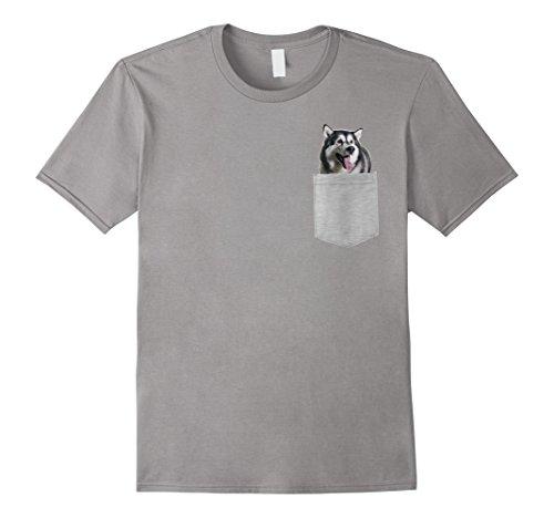 Mens Dog in Your Pocket Alaskan Malamutes t shirt shirt Large Slate