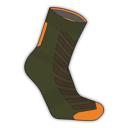 Sealskin calcetines z MTB Naranja y Verde Talla XL 47 – 49 tobillo impermeables (calcetines