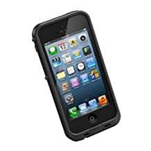 LifeProof FRE iPhone 5 Waterproof Case - Retail Packaging - BLACK (Discontinued by Manufacturer)
