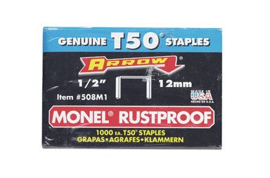 Arrow Fastener 508M1 1/2'' T50 Monel Staples by Arrow Fastener