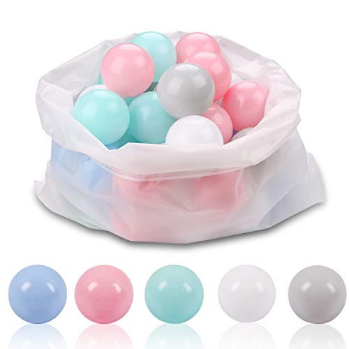 Ball Pit Balls for Kids - Plastic Toy Balls for kids - Ideal for Baby or Toddler Ball Pit, Ball Pit Play Tent, Baby Pool Water Toys , Kiddie Pool, Party Decoration, Photo Booth Props, 50 Balls]()