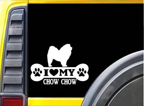 Chow Figurine - Chow Chow Bone Sticker L061 8 inch dog decal
