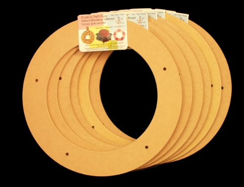 "6 Pack, 9"" Biodegradable Floral Craft Ring, Ez Glueable Wreath Form, for Photo Frame, Candle Ring, Etc"