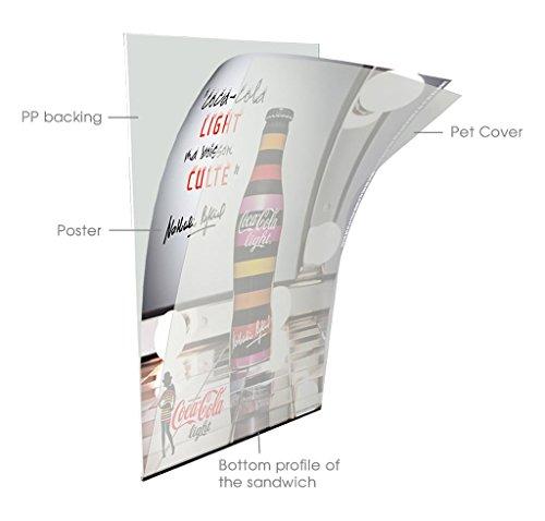 Free Standing Sidewalk Business Restaurant Advertising Display Slide-in A Frame, 22x28 Poster Size, Black by DisplaysMarket (Image #2)