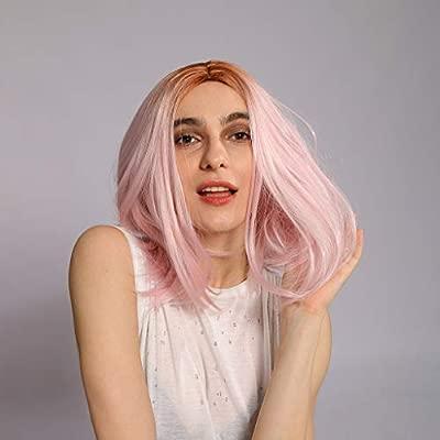 Gaddrt - Peluca de encaje rosa para mujer, color blanco y ...