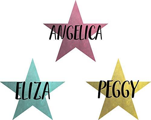 LA STICKERS Angelica, Eliza & Peggy - Sticker Graphic - Auto, Wall, Laptop, Cell, Truck Sticker for Windows, Cars, ()