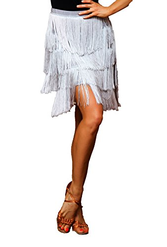 Scgginttanz Ballo sbs Gonna Latino Da Strati Ballroom silver Donna Quattro Per La g2048 Superstar Serie Design Di Professionale Nappe Danza Swing fHqrf