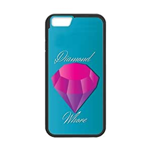 Custom Luxury Diamond Durable Protector Plastic Snap On Cover Case for iPhone 6