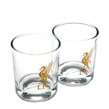 Official Liverpool FC 2 Pack Whiskey Glass Set