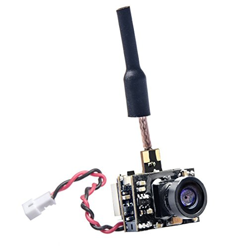 - GOQOTOMO GD02 200mW 5.8GHz 40CH FPV Video Transmitter with Dipole Brass Antenna Ultra Micro AIO NTSC 600TVL Camera Combo for FPV Indoor Racing