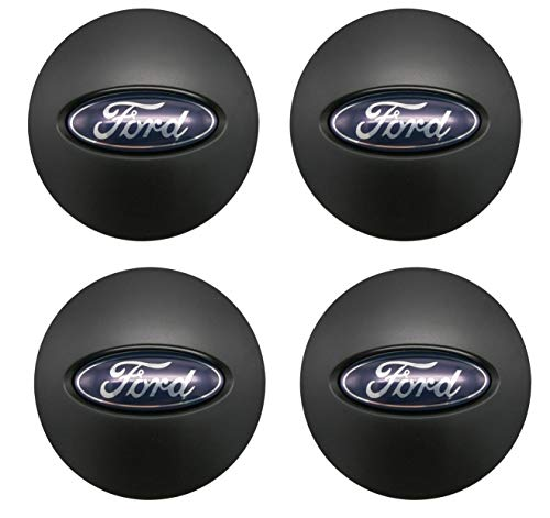 (Lhfacc Ford Matte Black Wheel Center Hub Cap Cover Emblem Badge Sets of 4 for Ford BB53-1A096-RA)