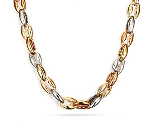 White Gold Assorted Link Chain - 5