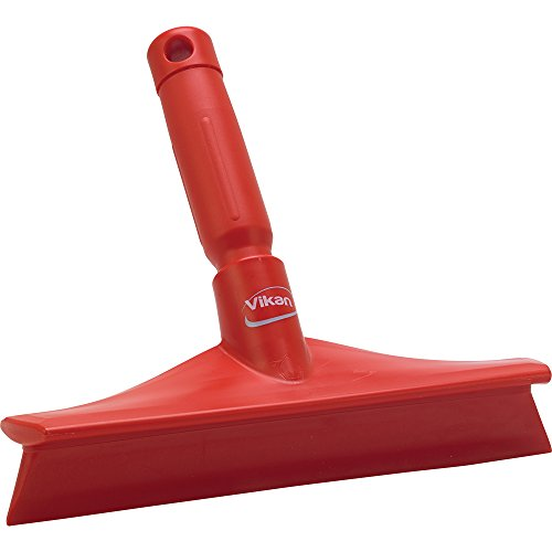 VIKAN Red 10″ Polypropylene Bench Squeegee