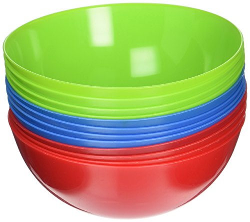 12 Bowls Reusable Luncheon Tableware Assorted