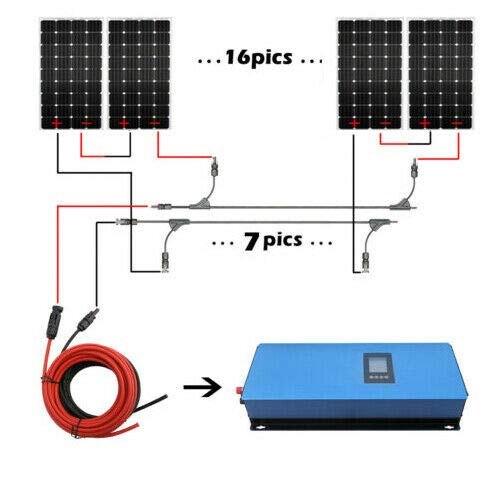 ECO LLC 2000W Home Grid Tie Solar System Kit 20pcs 100W Mono Solar Panels & 2000W Grid-tie Inverter