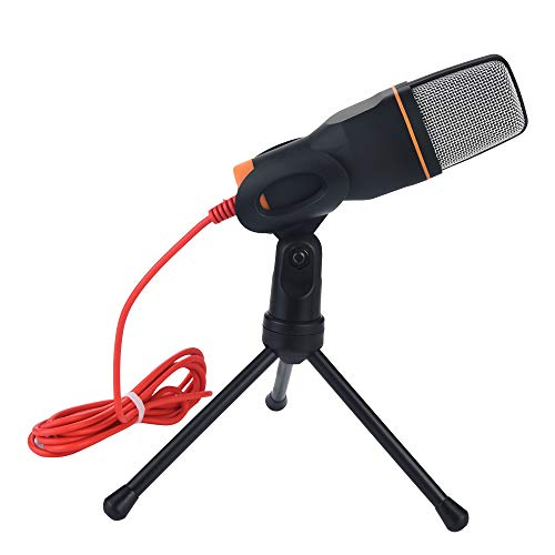 Computer Microphone, Benficial PC Microphone Plug & Play 3.5mm Home Studio Condenser Microphone for Desktop/Laptop/Notebook,Recording for YouTube,Podcasting,Gaming,Online Chatting,Black