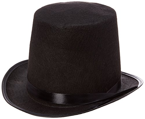 Rhode Island Novelty Black Felt Top Hat -