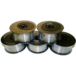 WeldingCity 5 Rolls of ER316L Stainless Steel MIG Welding Wire 2-Lb Spool 0.030″ (0.8mm)