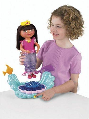 Dora Toys For Girls : Fisher price dora sparkle twirl mermaid doll import