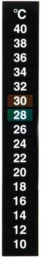 Hongma 2pcs Adhesive Thermometer Strips Stickers for Aquarium Fish Tank 10℃-40℃