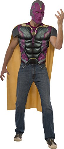 Rubie's Men's Avengers 2 Age of Ultron Vision Top Cape and Mask, Multi, -