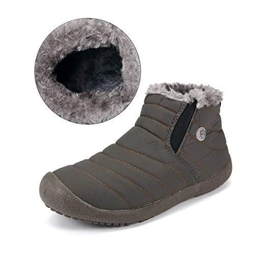 Stivali da Stringati Calda Imbottitura Stivaletti Neve Caldo Cachi del Scarpe Scarpe Sportive Impermeabile Scarpe Invernali Unisex Pelliccia con Gracosy dxBqwFgd